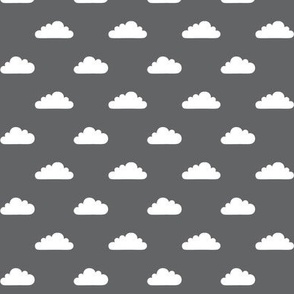 mod baby » tiny clouds on grey