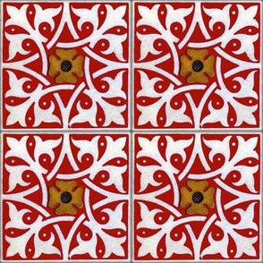 Medieval Tile ~ Turkey Red