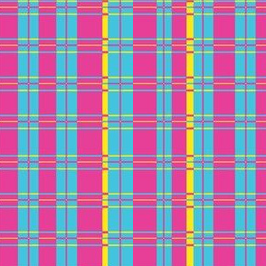 Plaid: Pink, blue and yellow
