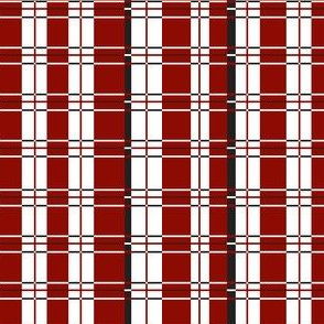 Plaid: Red, white and black