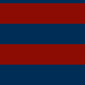 broad red and blue stripes