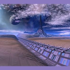 3010 Sci Fi Destination Pillow © 2010 Gingezel™Inc.