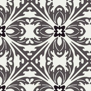 Art Nouveau in Grey and White