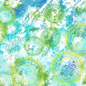 Abstract blue green ocean