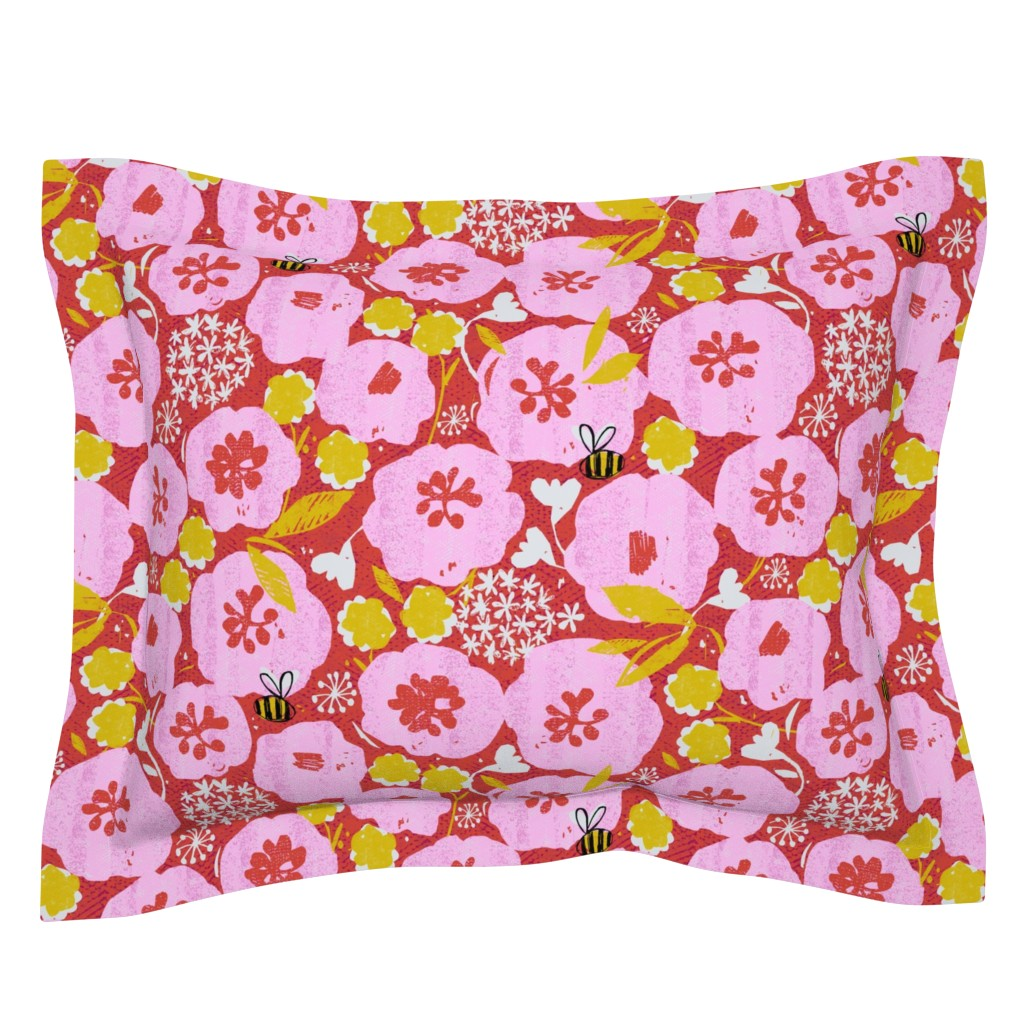 Sebright Pillow Sham featuring too much pollen-flowers by ottomanbrim