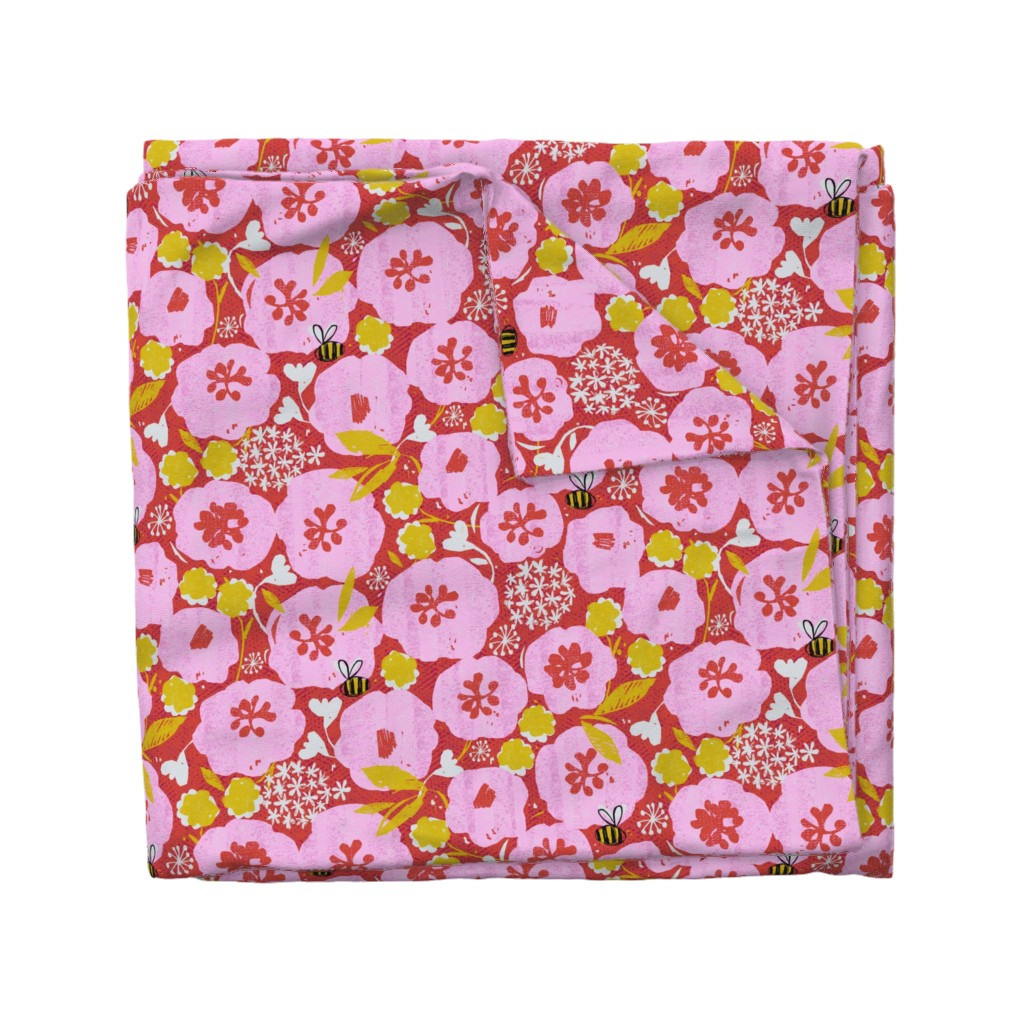 Wyandotte Duvet Cover featuring too much pollen-flowers by ottomanbrim