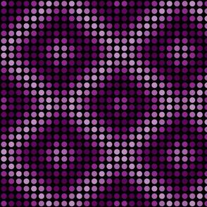 Violet magenta polka dots with diamond shapes.