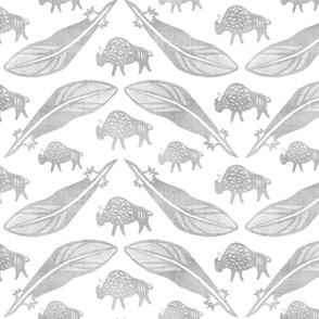 Silver American Bison Paper Cut