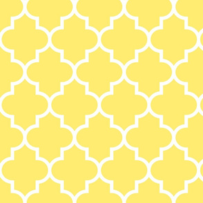 quatrefoil LG lemon yellow