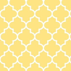 quatrefoil LG sunshine yellow