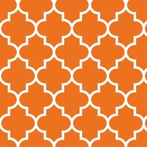 quatrefoil LG orange