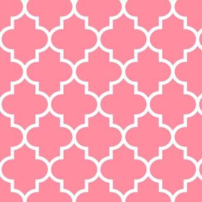 quatrefoil LG pretty pink