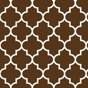 quatrefoil LG brown