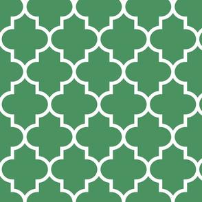 quatrefoil LG kelly green