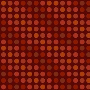 Polka dots brown rust orange