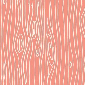 Wonky Woodgrain - Salmon