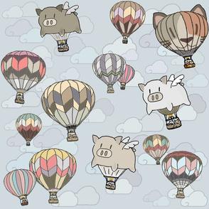 Hot Air Balloons and Kitties