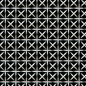 raindrop quilt black&white (grey)