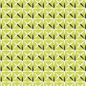 raindrop quilt chartreuse&white (navy)
