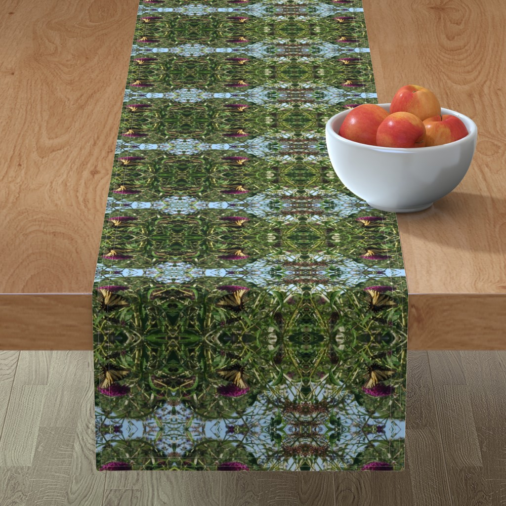Minorca Table Runner featuring Butterfly_bush by kittykittypurrs