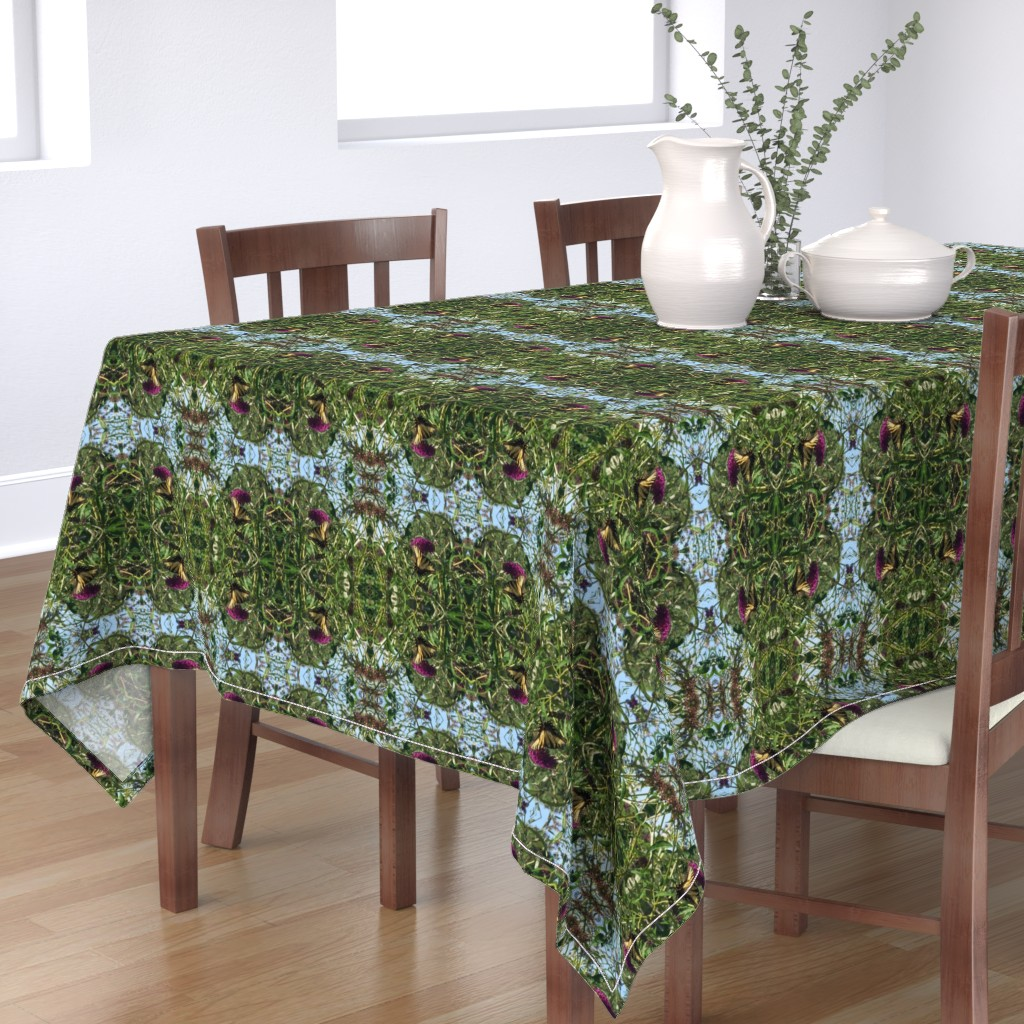 Bantam Rectangular Tablecloth featuring Butterfly_bush by kittykittypurrs