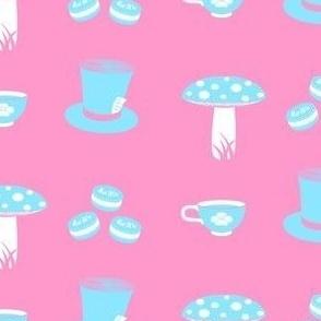 Alice Props Light Blue on Pink