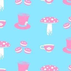 Alice Props Pink on Light Blue