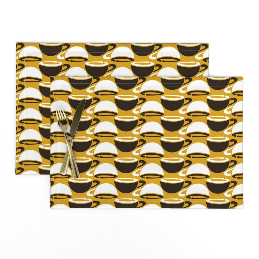 Lamona Cloth Placemats featuring Mug Flipflop by gingerprints