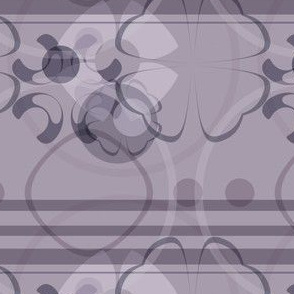 Plum Purple Graphics Floral Stripe