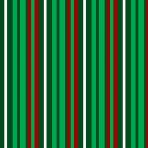 Green, Red and White Stripes
