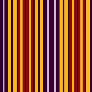 Purple, lavender, gold and red stripes (Memories of Flocked Wallpaper)