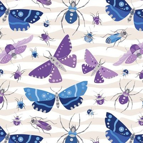 The Bug Invasion - Purple and Blues