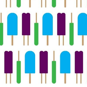 Popsicles - Purple, Green, and Blue