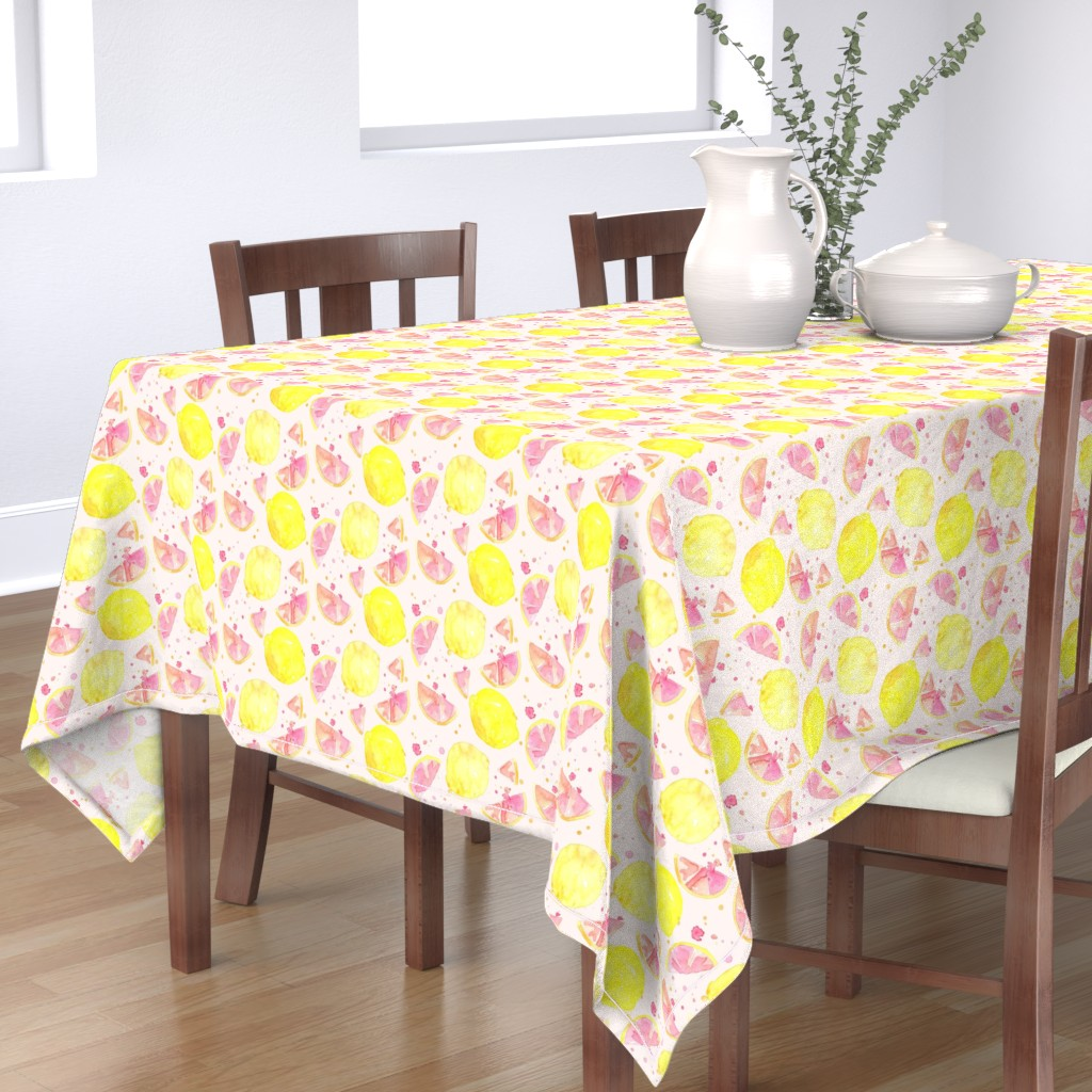 Bantam Rectangular Tablecloth featuring pink lemonade by erinanne