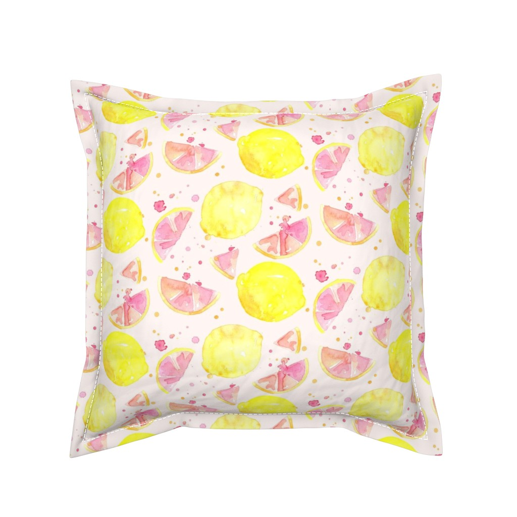 Serama Throw Pillow featuring pink lemonade by erinanne