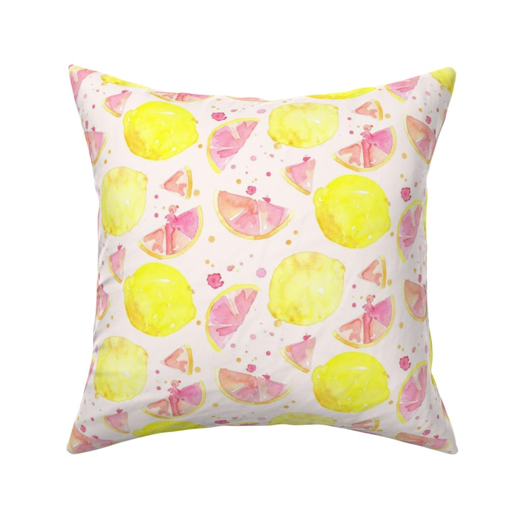 Catalan Throw Pillow featuring pink lemonade by erinanne