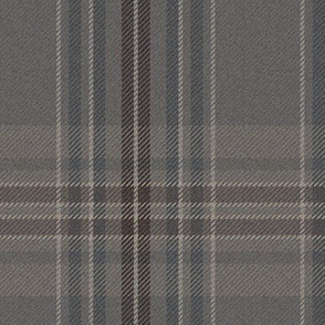 """New Ancient Plaid 2 in weathered grey, 6"""" x 7.55"""""""
