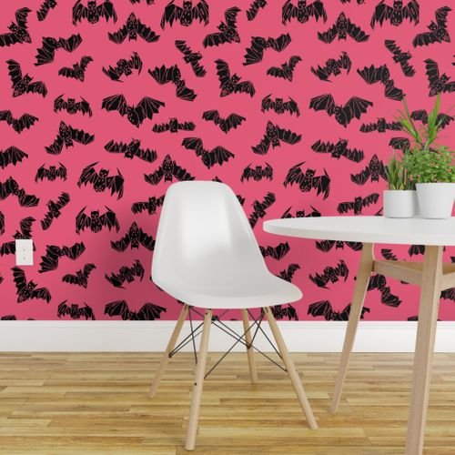 Terrific Shop Pink On Wallpaper Roostery Home Decor Products Onthecornerstone Fun Painted Chair Ideas Images Onthecornerstoneorg