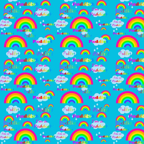 rainbow_fabric_design_turquoise_back_pink_rainbows_paddict