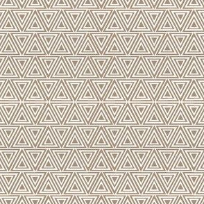 Layered triangles in taupe