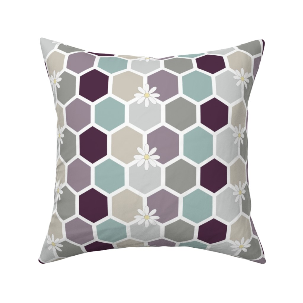 Catalan Throw Pillow featuring Honeycomb by kathrinlegg