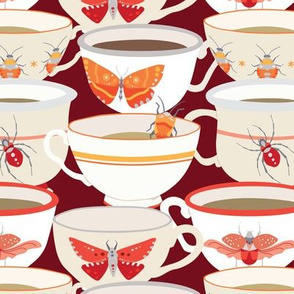 Bugs & Teacups - Oranges & Reds