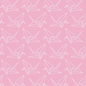 Origami Crane Outlines: Bubblegum
