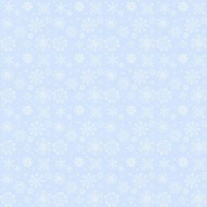 Peguin Wedding Snowflakes on Blue