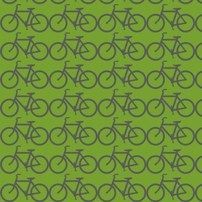 bicycle symbol green and gray