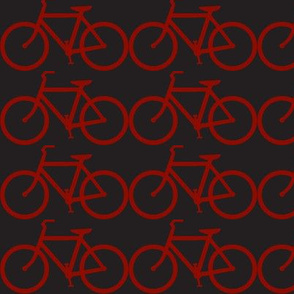 medium bicycle symbol red & black