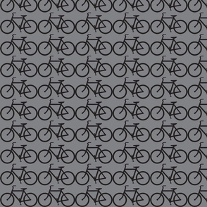 medium bicycle symbol black and gray