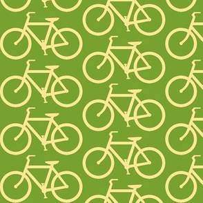medium bicycle symbol green and cream