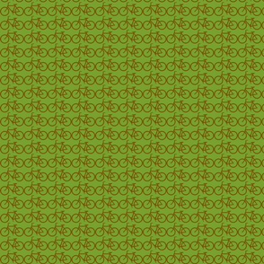 small bicycle symbol green and brown