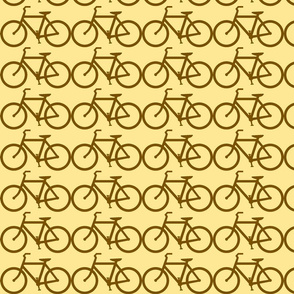 bicycle symbol brown on cream